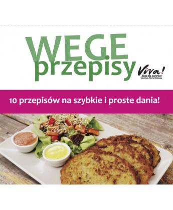 Pakiet 50 ulotek z wegetariańskimi przepisami