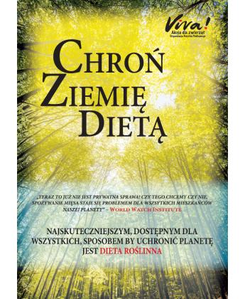 Pakiet 50 szt. ulotek Chroń ziemię dietą - na temat ekologii i diety wegańskiej