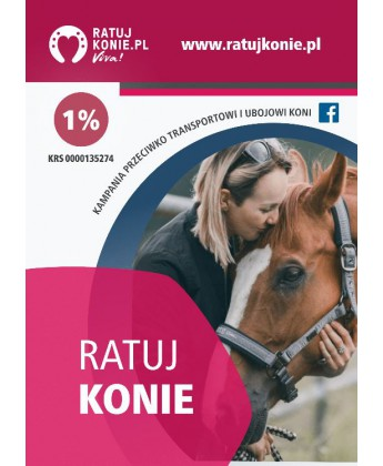 Pakiet 50 ulotek kampanii Ratuj Konie