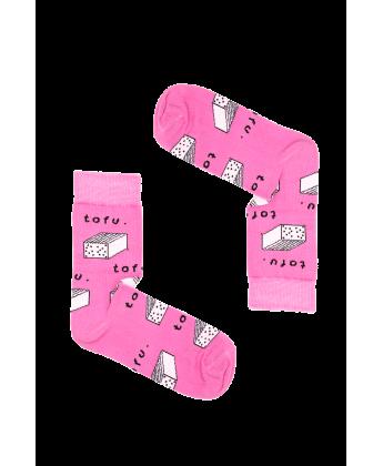 Skarpetki Różowe tofu