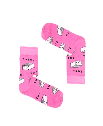 Skarpetki tofu różowe