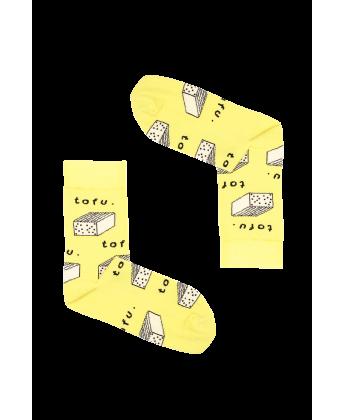 Skarpetki tofu żółte