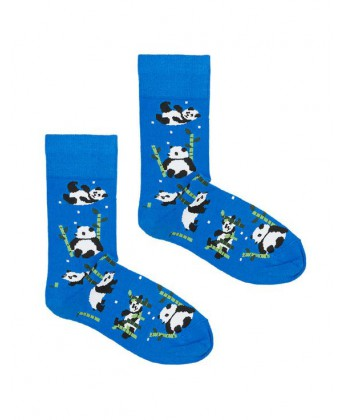 Skarpetki Panda niebieska