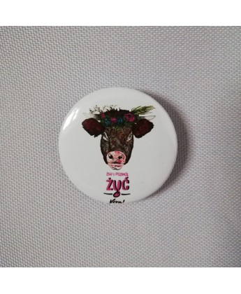 Przypinka LOVE ALL ANIMALS - 37 mm
