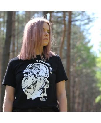 Koszulka damska V for Vegan