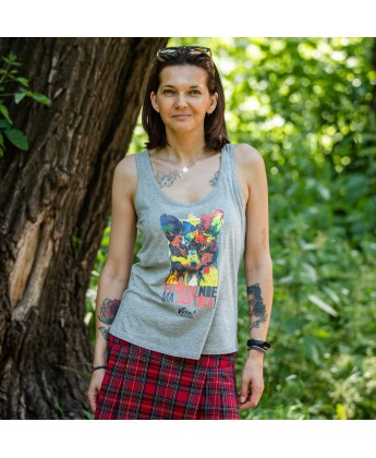 Koszulka damska na ramiączkach KOŃ - ZWIERZĘ TOWARZYSZĄCE