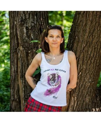 Koszulka damska na ramiączkach ANTYFUTRO - szynszyla