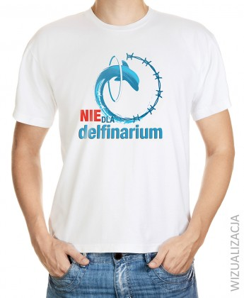 Koszulka męska Nie dla delfinarium