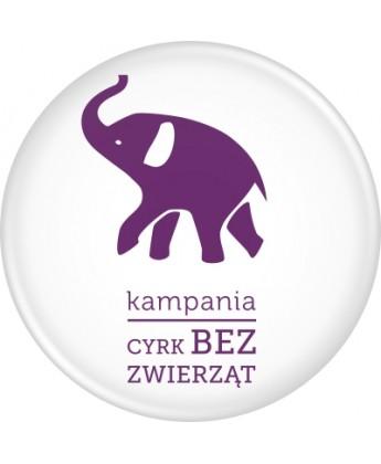 Przypinka kampanii CYRK BEZ ZWIERZĄT